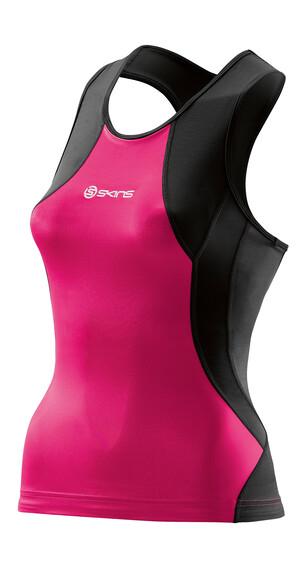 Skins TRI400 Racer Back Tri Top Women black/pink